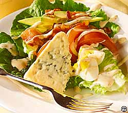 Cobb Salad with Creamy Bleu Cheese Dressing