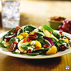 Smokey Bones' Grilled Oregon Pear and Spinach Salad