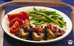 Oatmeal Nut Crusted Tenderloin with Mushroom-Cranberry Sauce