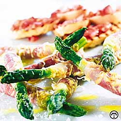 Asparagus Rolls With Ham and Jarlsberg