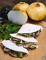 Vidalia Onion, Mushroom & Pepperjack Quesadillas