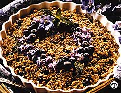 Blueberry Rice Crisp
