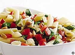 Campari Tomato Penne Salad with Gorgonzola