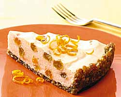Light Citrus Cheesecake With Raisin Nut Crust