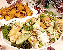 Cajun-Fried Turkey Wraps