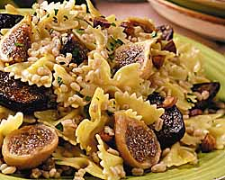 Barley And Bow-Tie Pilaf With Figs, Lemon And Thyme
