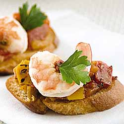 Bruschetta With Garlic Shrimp