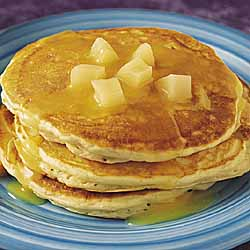 Pear Pancakes With Pear-Orange Sauce