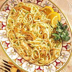 Lemony Chicken Pasta Toss
