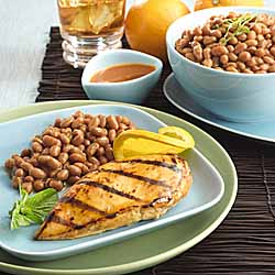 Chipotle Orange Glazed Chicken With Original Baked Beans