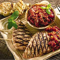 Tonno All'Alcamese - Grilled Tuna with Minted Tomato Sauce