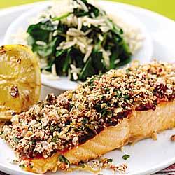 Zesty Salmon Fillets with a Tandoori Crust