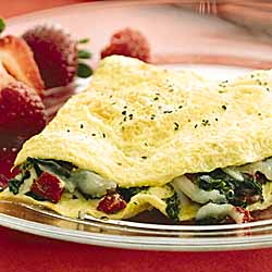 Spinach and Cheese Omelets
