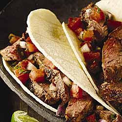 Pepper Steak Tacos with Pico de Gallo