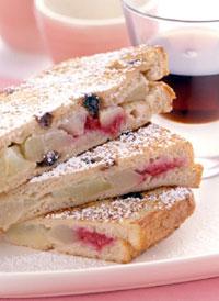 Apple-Raspberry Stuffed French Toast