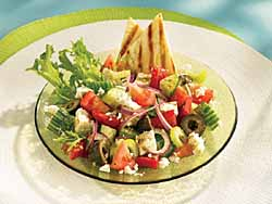 Greek Salad with Grilled Greek Pita