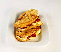 BBQ Brie & Bacon Panini