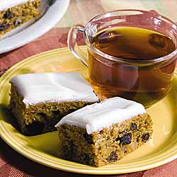 Pumpkin Raisin Bars