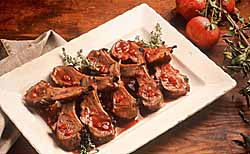 Pomegranate-Marinated Rack of Lamb