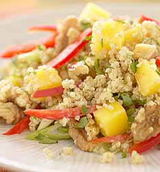 Golden Quinoa Salad with Mango & Walnuts
