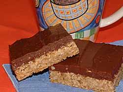 Chocolate Peanut Oat Squares