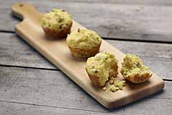 Corn Bread Muffins with Dill Pickle and Feta Cheese
