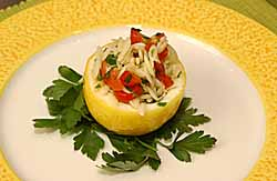 Citrus Orzo and Tomato Salad in Lemon Cups