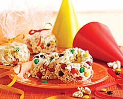 Candy-Speckled Popcorn Cake