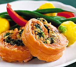 California Walnut Stuffed Salmon