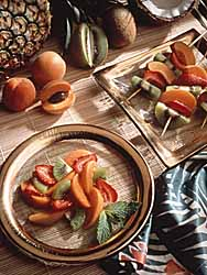 Healthful Summer Salad With Fresh California Apricots
