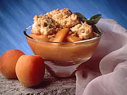 California Fresh Apricot Cobbler