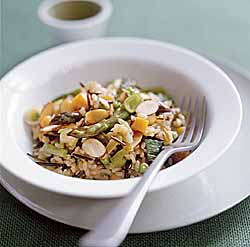 Wild Rice Risotto With Almonds & Spring Vegetables