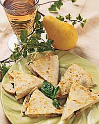 Cheese and Pear Quesadillas
