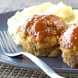Harvest Apple Meatloaf Muffins