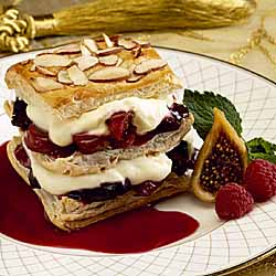 California Raspberry-Fig Napoleons