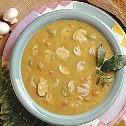 Mushroom and Split Pea Soup