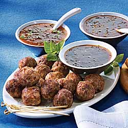 Meatballs with Delicious Dipping Sauces