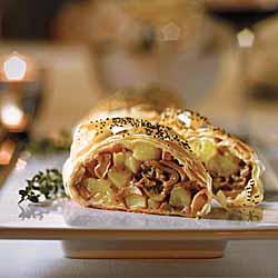 Mushroom Cheddar Strudel With Garlic & Thyme