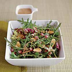Green Salad with Almond Butter Vinaigrette