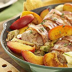 Pork Tenderloin with Caramelized Ontario Peaches