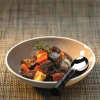 Beef Stew with Red Wine and Hoisin