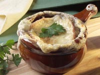 French Onion Soup with Gruyere Croutonst