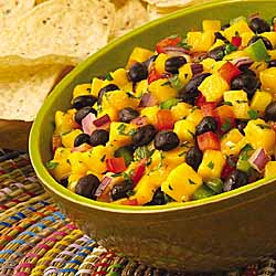 Cinco de Mango Black Bean Salsa