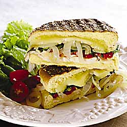 Stuffed Panini with Sauteed Onions
