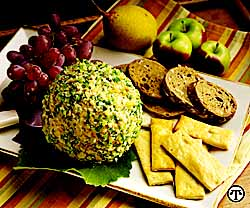California Cheese Ball with Onions & Walnuts