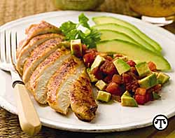 Mexican-Spiced Chicken With Avocado Salsa